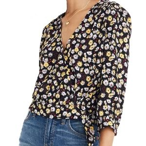 Madewell French Floral Wrap Top Size XL NWT